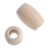 Oval Large Hole, Natural, 22 mm x 33 mm