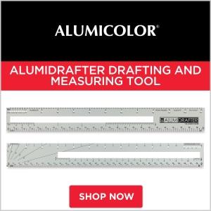 Alumicolor Alumidrafter Drafting and Measuring Tool