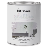 Glitter Interior Paint, Can, Iridescent Clear