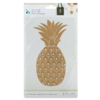 Foil Iron-On Art, Gold Pineapple