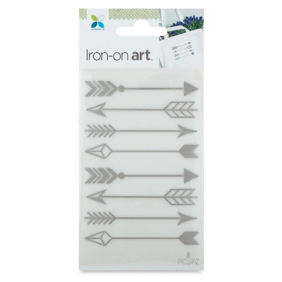 Foil Iron-On Art, Silver Arrow