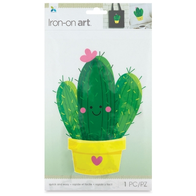 Four Color Iron-On Art, Large Cactus