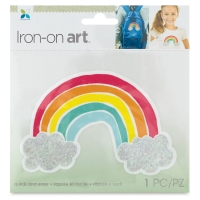 Four Color Iron-On Art, Rainbow
