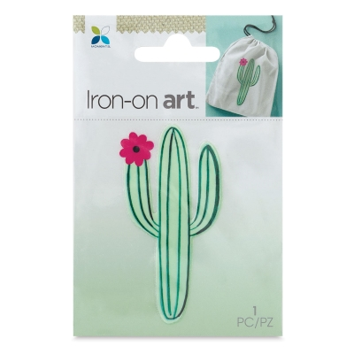 Four Color Iron-On Art, Small Cactus