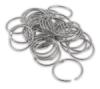 "Silver-tone 2"" Rings"