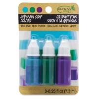 Soap Dyes, Pkg of 3(Purple, Sky Blue, and Teal)