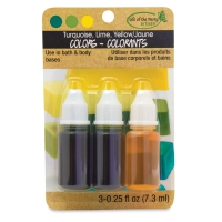 Soap Dyes, Pkg of 3(Turquoise, Lime, and Yellow)