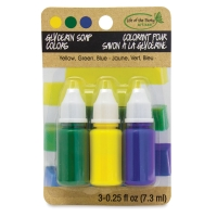 Glycerin Soap Dyes, Pkg of 3(Yellow, Green, and Blue)