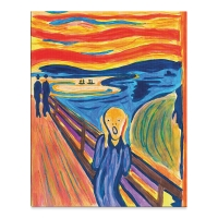 Deluxe Paint by Number Kit, The Scream (Finished Example)