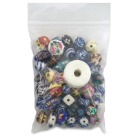 Porcelain Bead Assortment, 50 Pieces