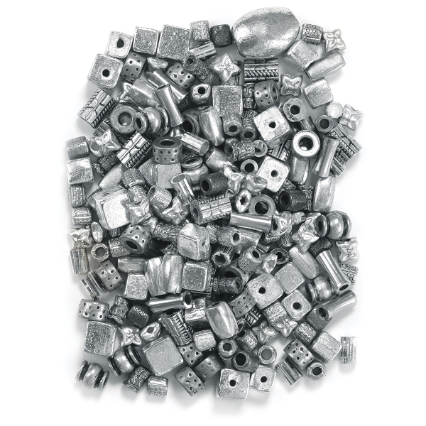 Silver Metallic Bead Assortment
