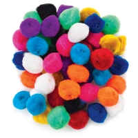 Pom Pom Bead Assortment, 50 Count