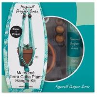 Macramé Plant Hanger Kit, Terra-Cotta Pot