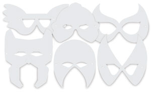 Super Hero Masks, Package of 24