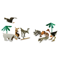 Wild Animal Sculptures, Pkg of 24