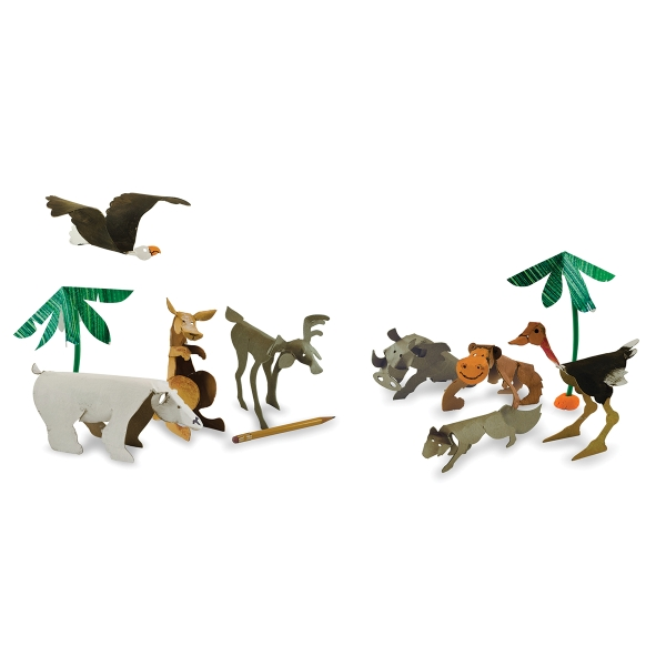 Wild Animal Sculptures, Pkg of 24