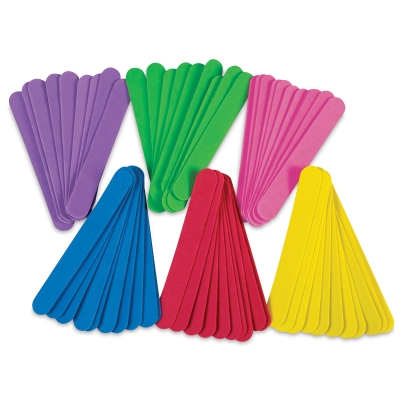 WonderFoam Jumbo Craft Sticks, Pkg of 100