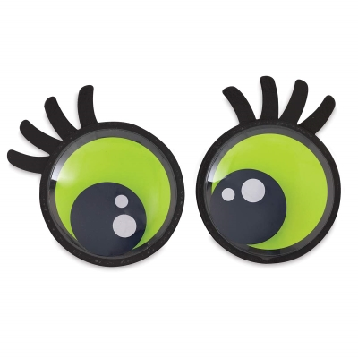 Large Lashed Out Wiggle Eyes, Pkg of 2