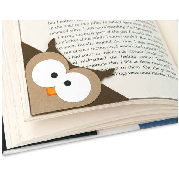 Bigz Bookmark Die, Owl<br/>(Finished Example)