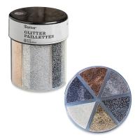Glitter Shaker, Fine Glitter, Metallic Colors