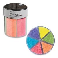 Glitter Shaker, Fine Glitter, Neon Colors