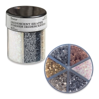 Glitter Shaker, Hearts and Stars Glitter, Metallic Colors