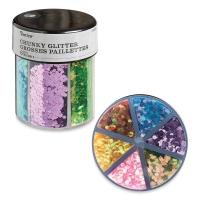 Glitter Shaker, Chunky Glitter, Pastel Colors