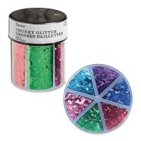 Glitter Shaker, Chunky Glitter, Primary Colors