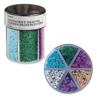 Glitter Shaker, Hearts and Stars Glitter, Dark Colors