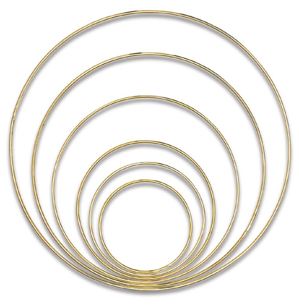 Gold-Tone Welded Macramé Rings