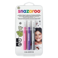 Face Paint Brush Pen Sets, Fantasy, Set of 3