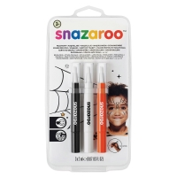 Face Paint Brush Pen Sets, Halloween, Set of 3