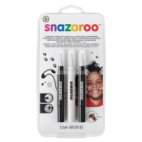 Face Paint Brush Pen Sets, Monochrome, Set of 3