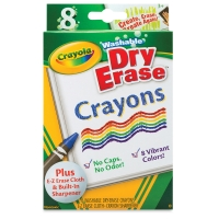 Dry-Erase Crayons, Set of 8
