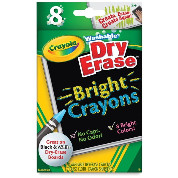 Brights Dry-Erase Crayons, Set of 8