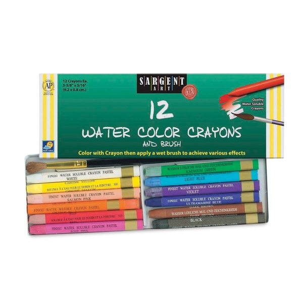 Water Color Crayons, Set of 12
