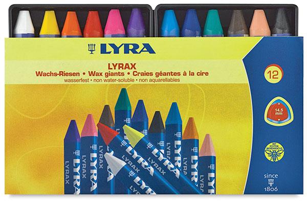 Lyra Lyrax Wax-Giant Crayons, Set of 12