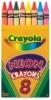Neon Crayons, Set of 8