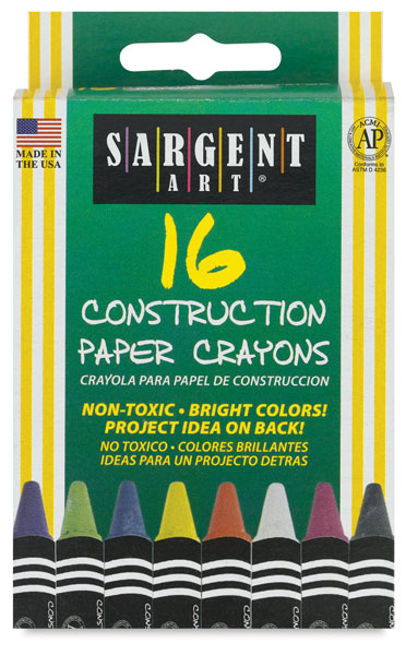 Construction Paper Crayons, Set of 16