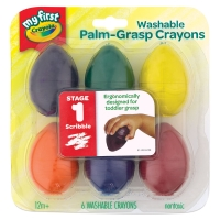 My First Palm-Grasp Crayons, Pkg of 6