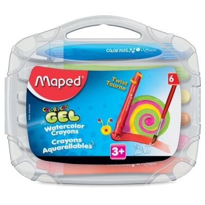 Color'Peps Gel Retractable Watercolor Crayons, Set of 6