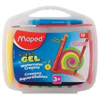 Color'Peps Gel Retractable Watercolor Crayons, Set of 10