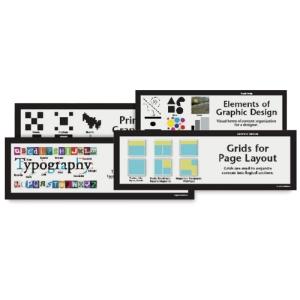 Art Display Cards, Graphic Design, Set of 16