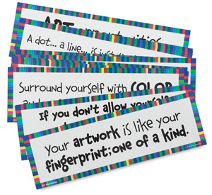 Art Display Cards, Art Motivation, Set of 16