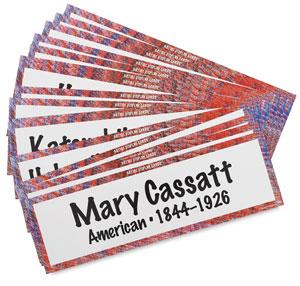 Art Display Cards, Artists, Set of 16