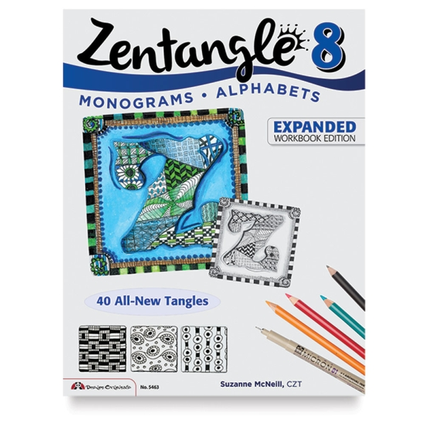 Zentangle 8, Expanded Workbook: Monograms and Alphabets