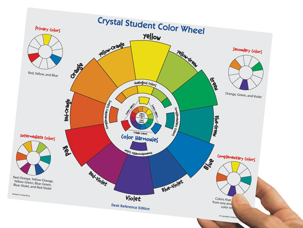 Crystal Productions Student Color Wheel Desk Reference