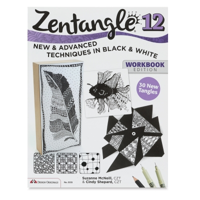 Zentangle 12, Expanded Workbook: New & Advanced Techniques in Black & White