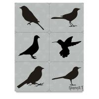 Bird Stencils, Set of 6
