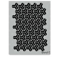 Y Pattern Stencil, Repeat Pattern